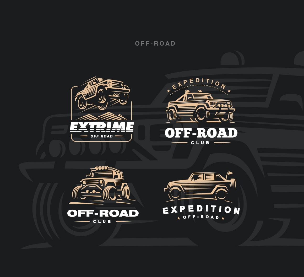 Transport logo set