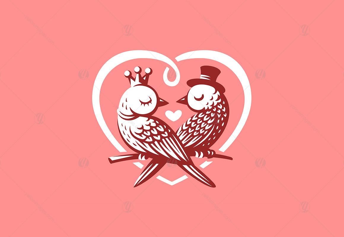 Valentine's Day. Bird love