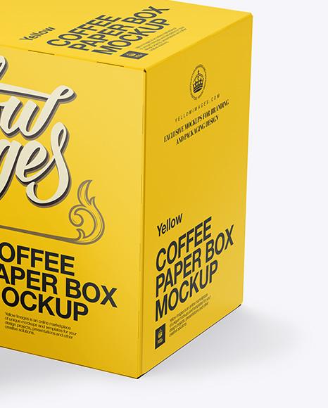 Coffee Box And Two K-Cups Mockup