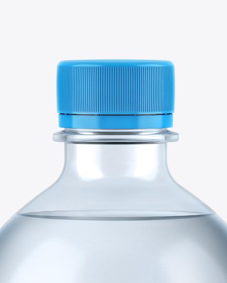 1,5L Blue PET Water Bottle Mockup