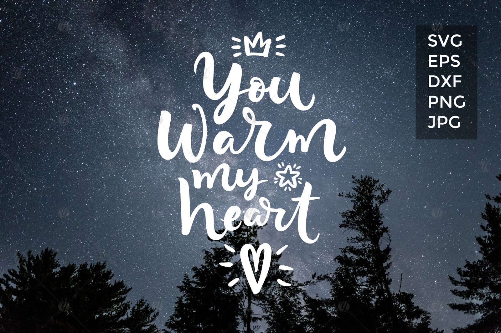 You warm my heart Vector quote