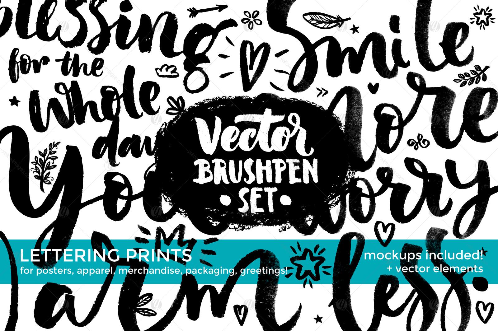 Vector Brushpen Set