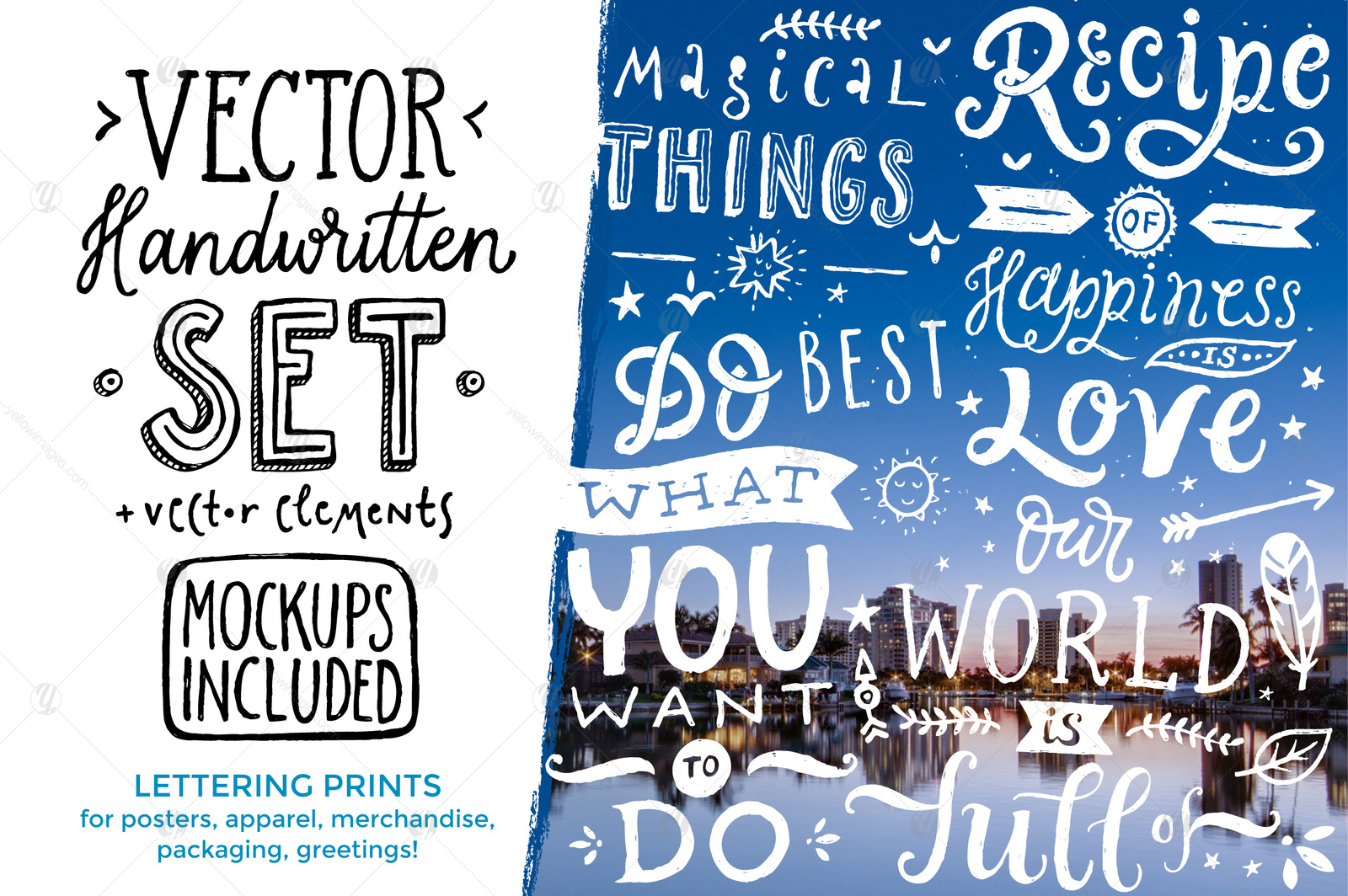 Vector Handwritten Set