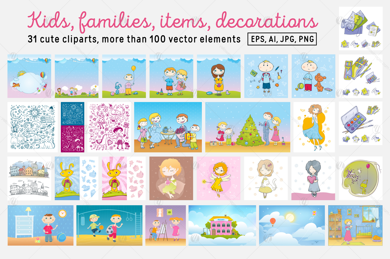 Kids and Families vector art