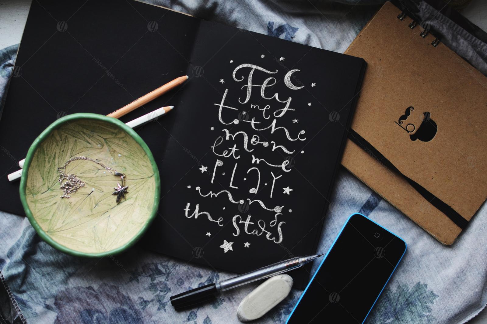 Chalk Lettering Set, Vector