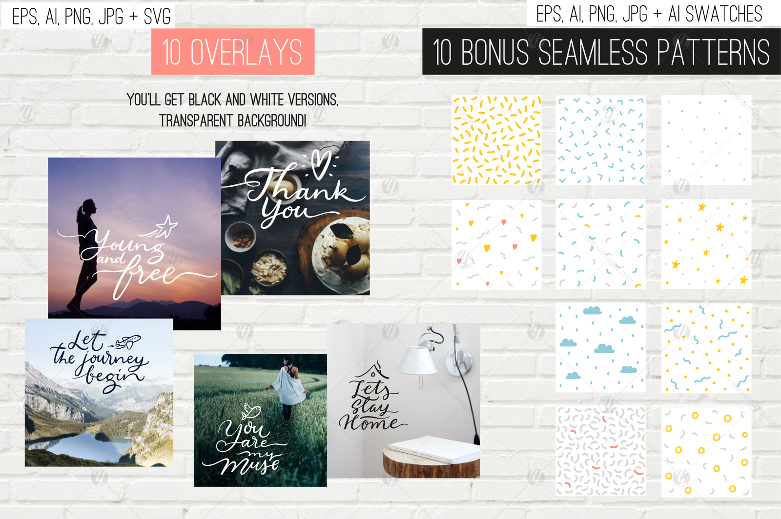 10 overlays, cards and tags