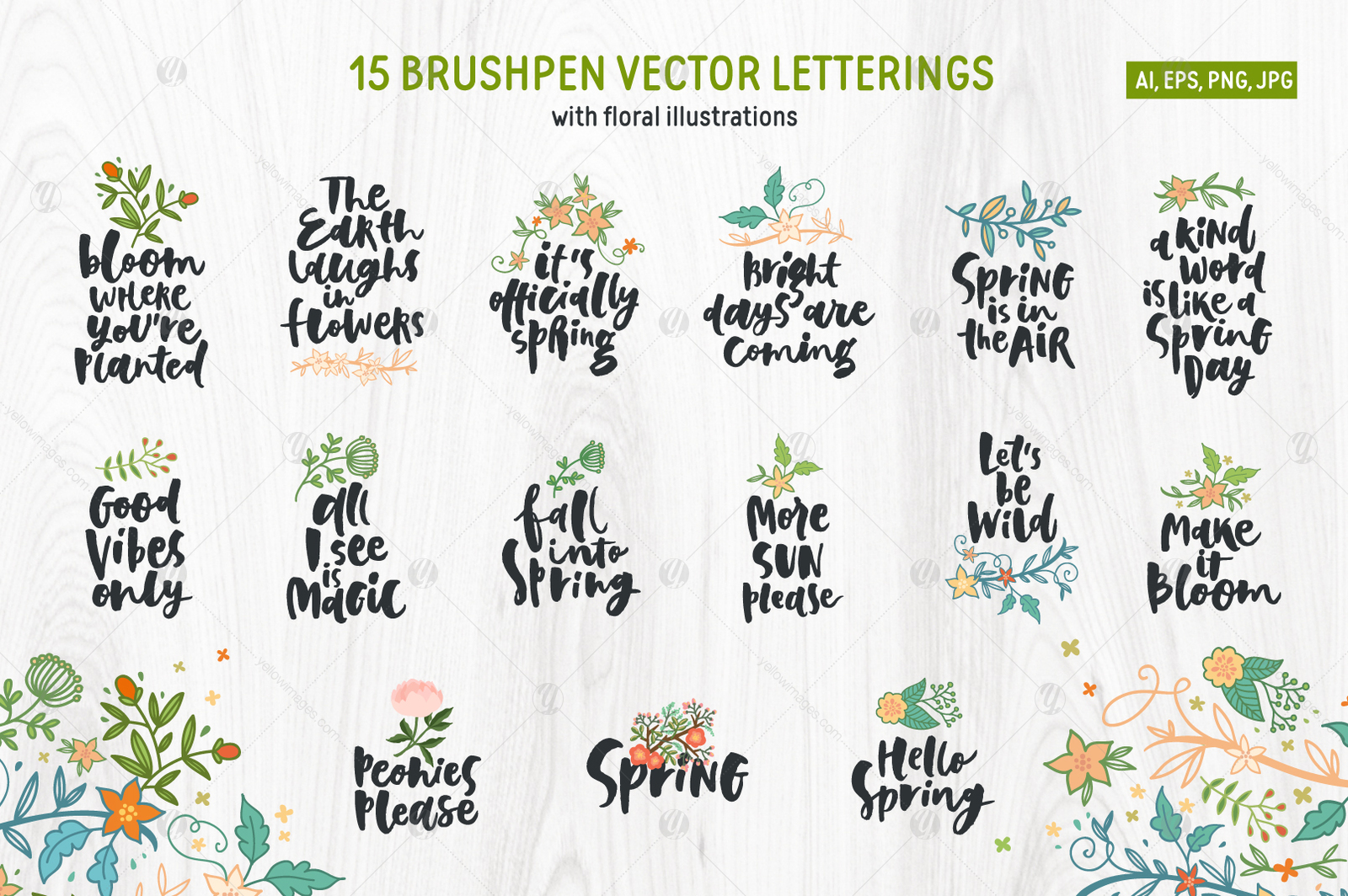 Spring! Letterings+graphics+patterns