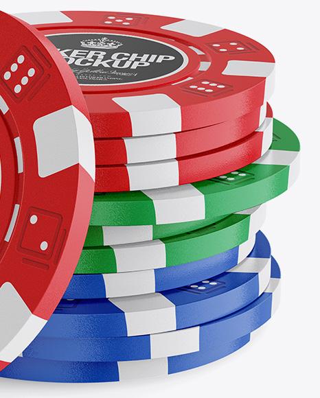 11 Plastic Casino Tokens Mockup
