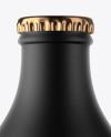 Black Ceramic Beer Bottle Mockup