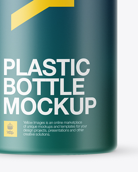 Matte PET Bottle Mockup