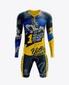 Men's Cycling Speedsuit LS mockup (Front View)