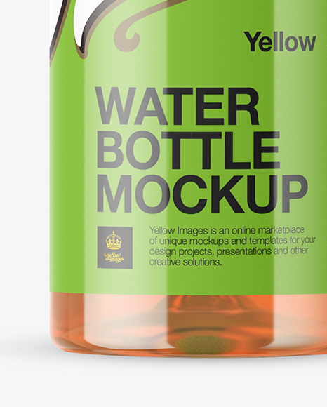 Clear Bottle With Soft Drink Mockup